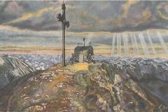 Postkarte-Wendelinkapelle-coloriert-K.-Betz-1927